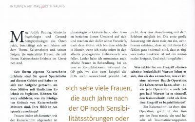 """""""Warum der Kaiserschnitt kein Klacks ist"""""""