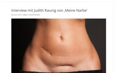 Interview mit Judith Raunig von 'Meine Narbe'