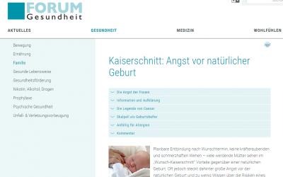 """""""Kaiserschnitt: Angst vor natürlicher Geburt"""""""