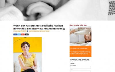 Wenn der Kaiserschnitt seelische Narben hinterläßt: Ein Interview mit Judith Raunig